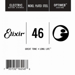 Elixir Optiweb SGL Tek Elektro Gitar Teli (46)