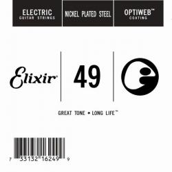 Elixir Optiweb SGL Tek Elektro Gitar Teli (49)