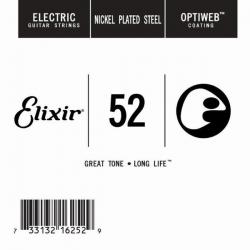 Elixir Optiweb SGL Tek Elektro Gitar Teli (52)
