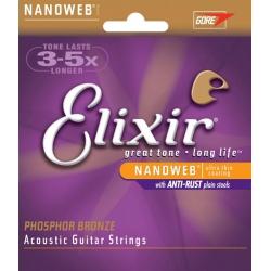 Elixir Phosphot Bronze Nanoweb 12 Telli Akustik Gitar Teli Set