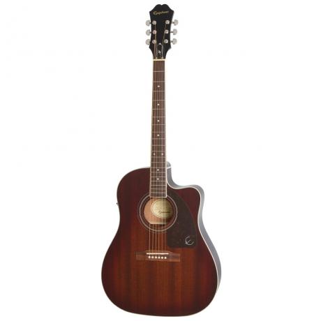 Epiphone AJ-220SCE Elektro Akustik Gitar (Mahogany Burst)<br>Fotoğraf: 1/2