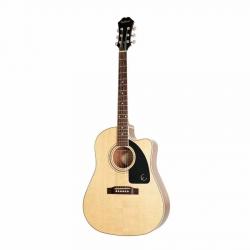 Epiphone AJ-220SCE Solid Top Elektro Akustik Gitar (Natural)