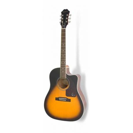 Epiphone AJ-220SCE Solid Top Elektro Akustik Gitar (Vintage Sunburst)<br>Fotoğraf: 1/1