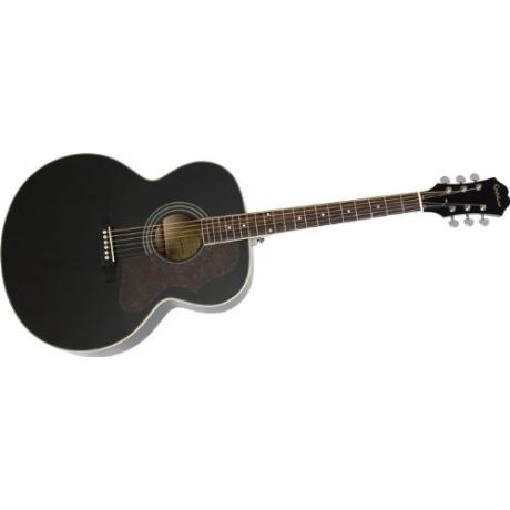 Epiphone EJ-200 Artist Akustik Gitar (Ebony)<br>Fotoğraf: 2/3