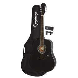 Epiphone FT-100 Player Pack Akustik Gitar Seti (Ebony)