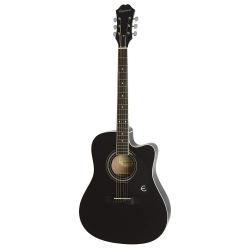 Epiphone FT-100CE Jumbo Elektro Akustik Gitar (Ebony)