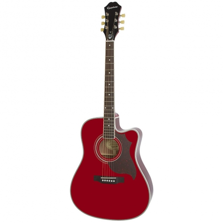 Epiphone FT-350SCE Min-ETune Elektro Akustik Gitar (Wine Red)<br>Fotoğraf: 1/3