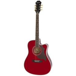 Epiphone FT-350SCE Min-ETune Elektro Akustik Gitar (Wine Red)