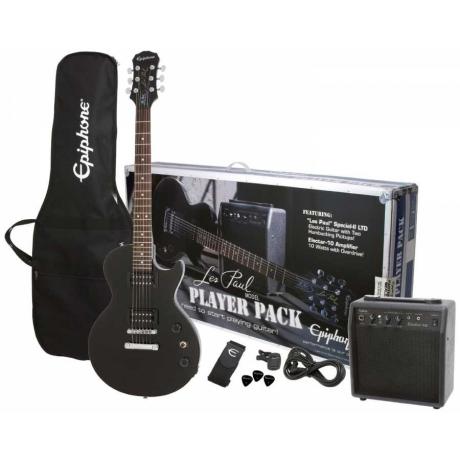 Epiphone Les Paul Player Pack Special II Elektro Gitar Seti (Ebony)<br>Fotoğraf: 1/1