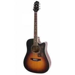 Epiphone Masterbilt DR-500MCE Elektro Akustik Gitar (Vintage Sunburst)