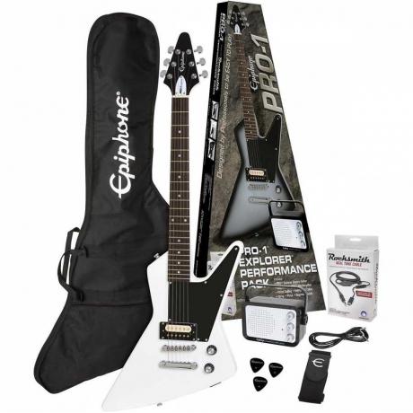 Epiphone Pro-1 Explorer Elektro Gitar Seti (Alphine White)<br>Fotoğraf: 1/4