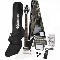Epiphone Pro-1 Explorer Elektro Gitar Seti (Alphine White)