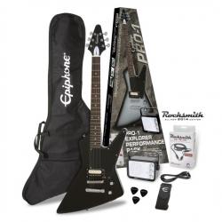 Epiphone Pro-1 Explorer Elektro Gitar Seti (Ebony)