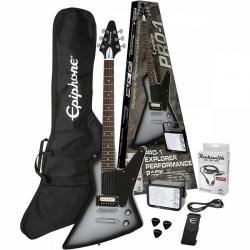 Epiphone Pro-1 Explorer Elektro Gitar Seti (Silver Burst)