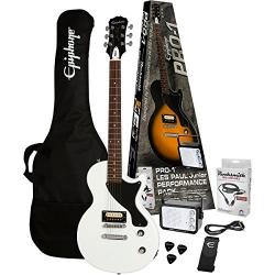 Epiphone Pro-1 Les Paul Jr. Elektro Gitar Seti (Alphine White)