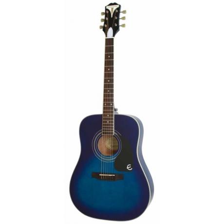Epiphone Pro-1 Plus Akustik Gitar (Trans Blue)<br>Fotoğraf: 1/1