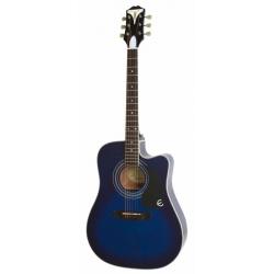 Epiphone Pro-1 Ultra Elektro Akustik Gitar (Trans Blue)
