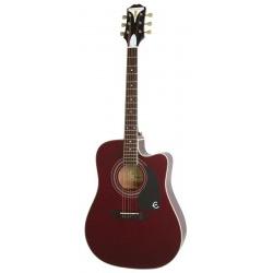 Epiphone Pro-1 Ultra Elektro Akustik Gitar (Wine Red)