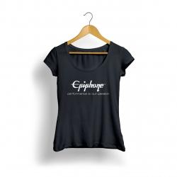 EpiphoneLogo Kadın T-Shirt (Siyah)