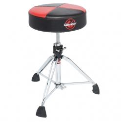 Gibraltar Round Quarter Panel Two Tone Drum Throne, Red/Black 9608RQPRB