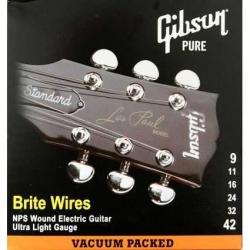 Gibson Brite Wires Elektro Gitar Teli (09-42)