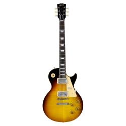 Gibson Custom 58 Les Paul Standard Elektro Gitar (Dark Bourbon Fade - VOS)