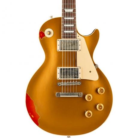 Gibson Custom Shop Les Paul Standard Elektro Gitar (Gold over Sunburst Aged)<br>Fotoğraf: 2/2
