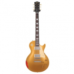 Gibson Custom Shop Les Paul Standard Elektro Gitar (Gold over Sunburst Aged)