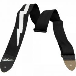 Gibson Lightning Bolt Style 2'' Elektro Gitar Askısı - Jet Black