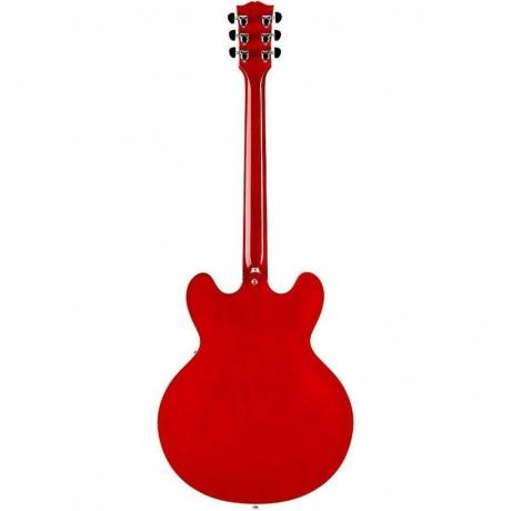 Gibson Memphis ES-335 Block Elektro Gitar (Cherry)<br>Fotoğraf: 4/4