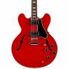 Gibson Memphis ES-335 Block Elektro Gitar (Cherry)<br>Fotoğraf: 3/4