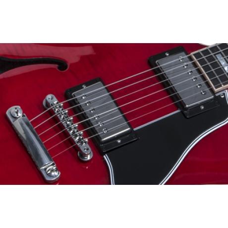 Gibson Memphis ES-335 Figured Elektro Gitar (Cherry)<br>Fotoğraf: 8/10