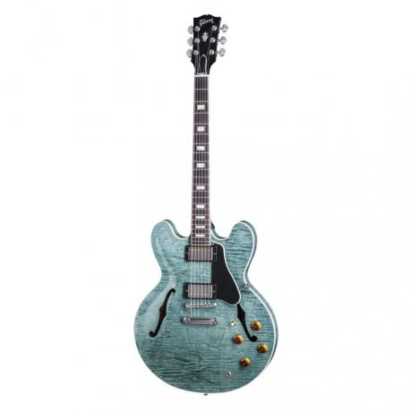 Gibson Memphis ES-335 Figured Elektro Gitar (Turquoise)<br>Fotoğraf: 1/3