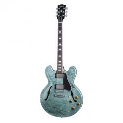 Gibson Memphis ES-335 Figured Elektro Gitar (Turquoise)
