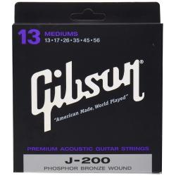Gibson SAG-J200 Phospor Bronze Akustik Gitar Teli (13-56)