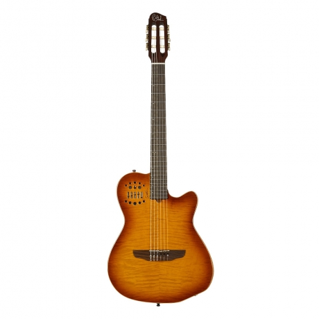 Godin 38947 Multiac ACS Lightburst Flame Elektro Klasik Gitar<br>Fotoğraf: 1/2