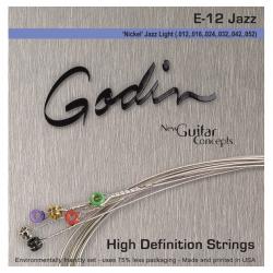 Godin Jazz Light E12 - Nickel Wound Elektro Gitar Takım Tel (012-052)