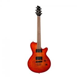 Godin LG HB Elektro Gitar (Cherry Burst Flame)