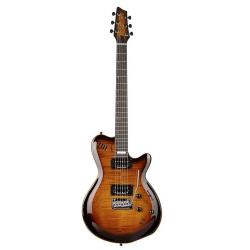 Godin LGXT Flame AAA Elektro Gitar (Cognac Burst)