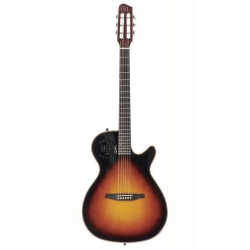 Godin Multiac Steel Duet Ambiance HG Elektro Akustik Gitar (Sunburst)