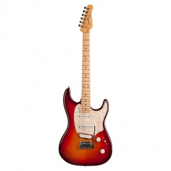 Godin Progression Plus MN Elektro Gitar (Cherry Burst Flame)