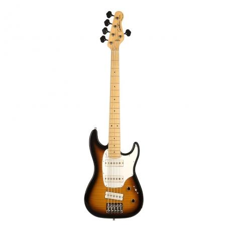Godin Shifter  HG MN 5 Telli Bas Gitar (Vintage Burst Flame)<br>Fotoğraf: 1/1