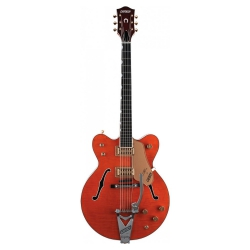 Gretsch G6120DC Chet Atkins Hollow Body Double Cutaway Elektro Gitar (Orange ...