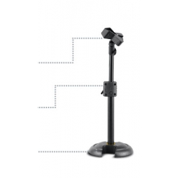 HERCULES LOW PROFILE H SHAPE BASE MIC. STAND