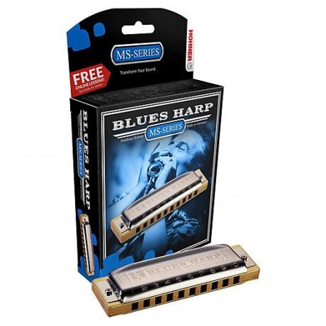 Hohner Blues Harp MS Serisi Mızıka (La Majör)<br>Fotoğraf: 1/1