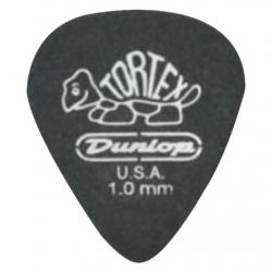 Jim Dunlop 482P1.0 Tortex Pitch Black Jazz III 12li Paket Pena (1.0 mm)