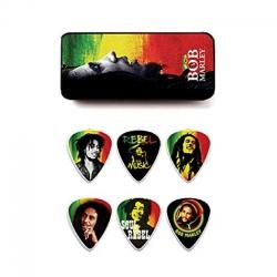 Jim Dunlop Bob Marley Rasta 6lı Pena Seti (Thin)