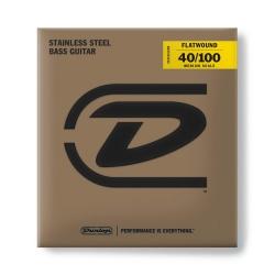 Jim Dunlop DBFS40100M Bass Flat Set Bas Gitar Teli (40-100)