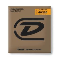 Jim Dunlop DBFS40120M Bass Flat Set 5 Telli Bas Gitar Teli (40-120)