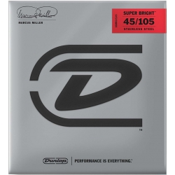 Jim Dunlop DBMMS45105 Marcus Miller Super Bright Bas Gitar Teli (45-105)